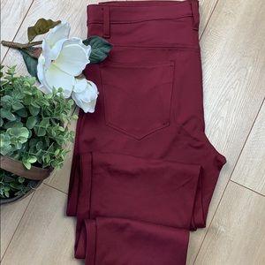 Calvin Klein Jeans burgundy skinny pants